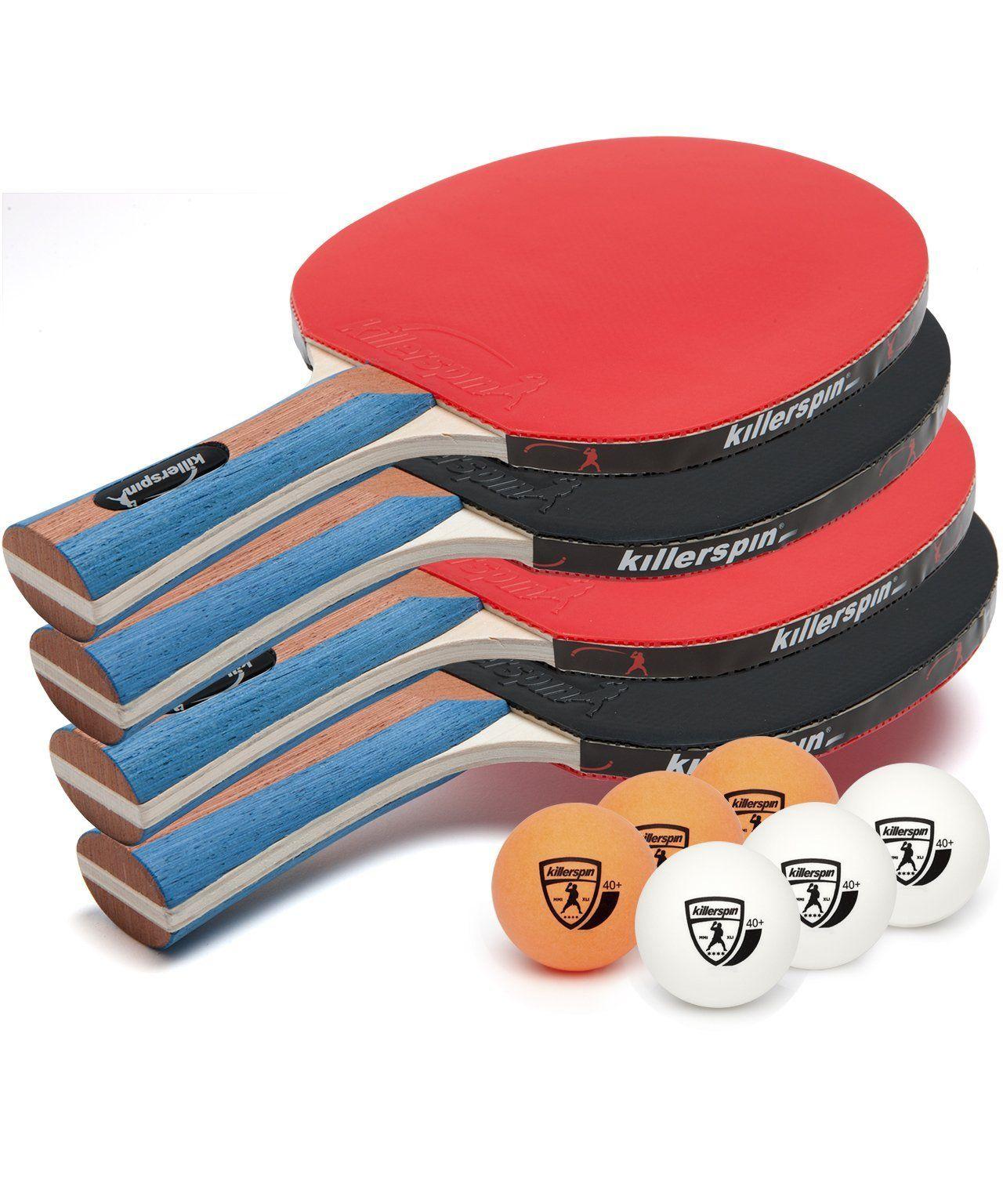 Killerspin JETSET 2 Premium Ping Pong Table Tennis Paddle Pack