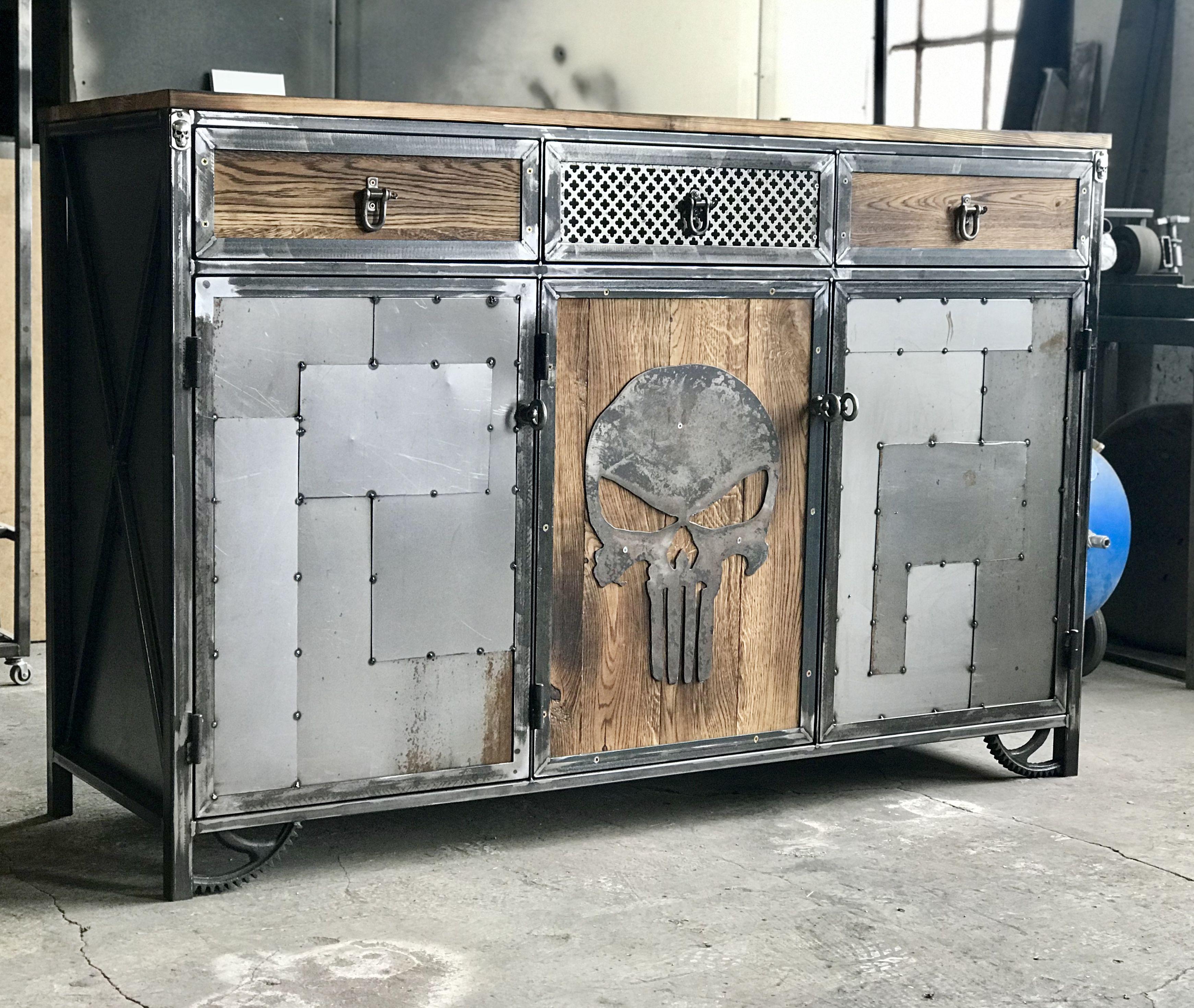 Poignees metal muebles en 2019 muebles industriales for Muebles industriales metal baratos