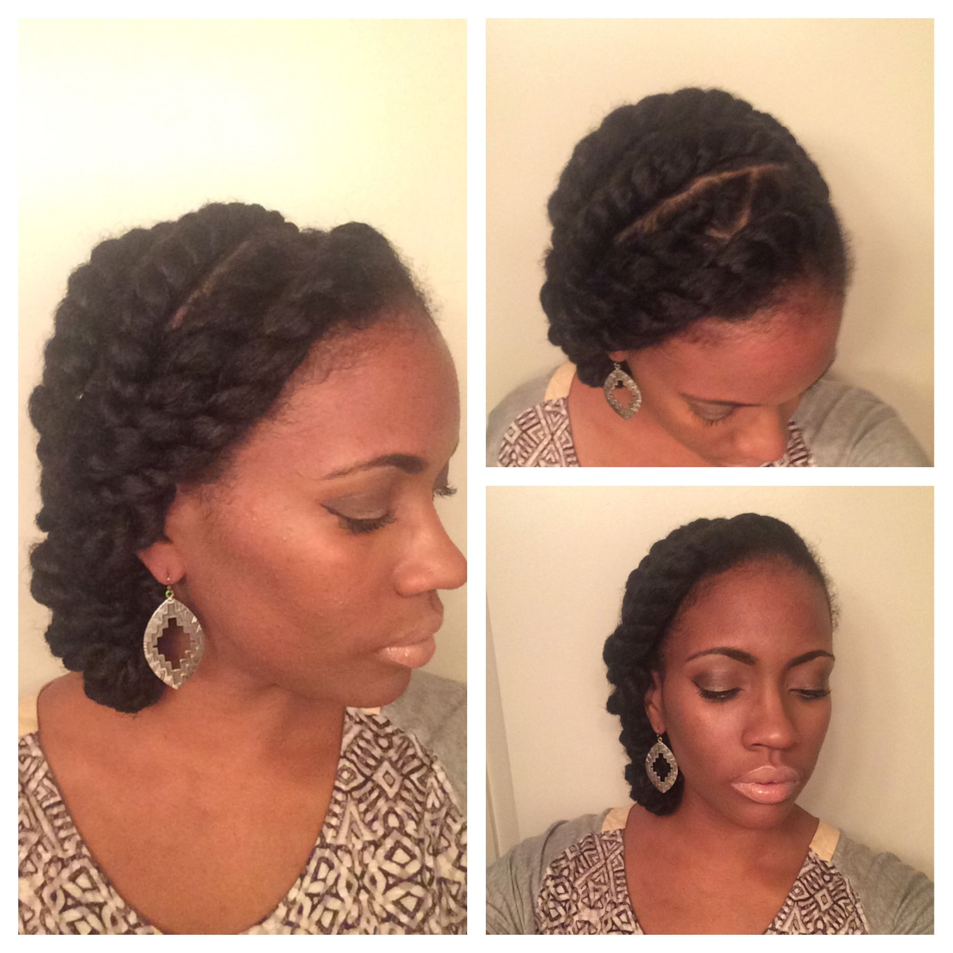 Natural Style Flat Twists quick styles Marley hair protective styles