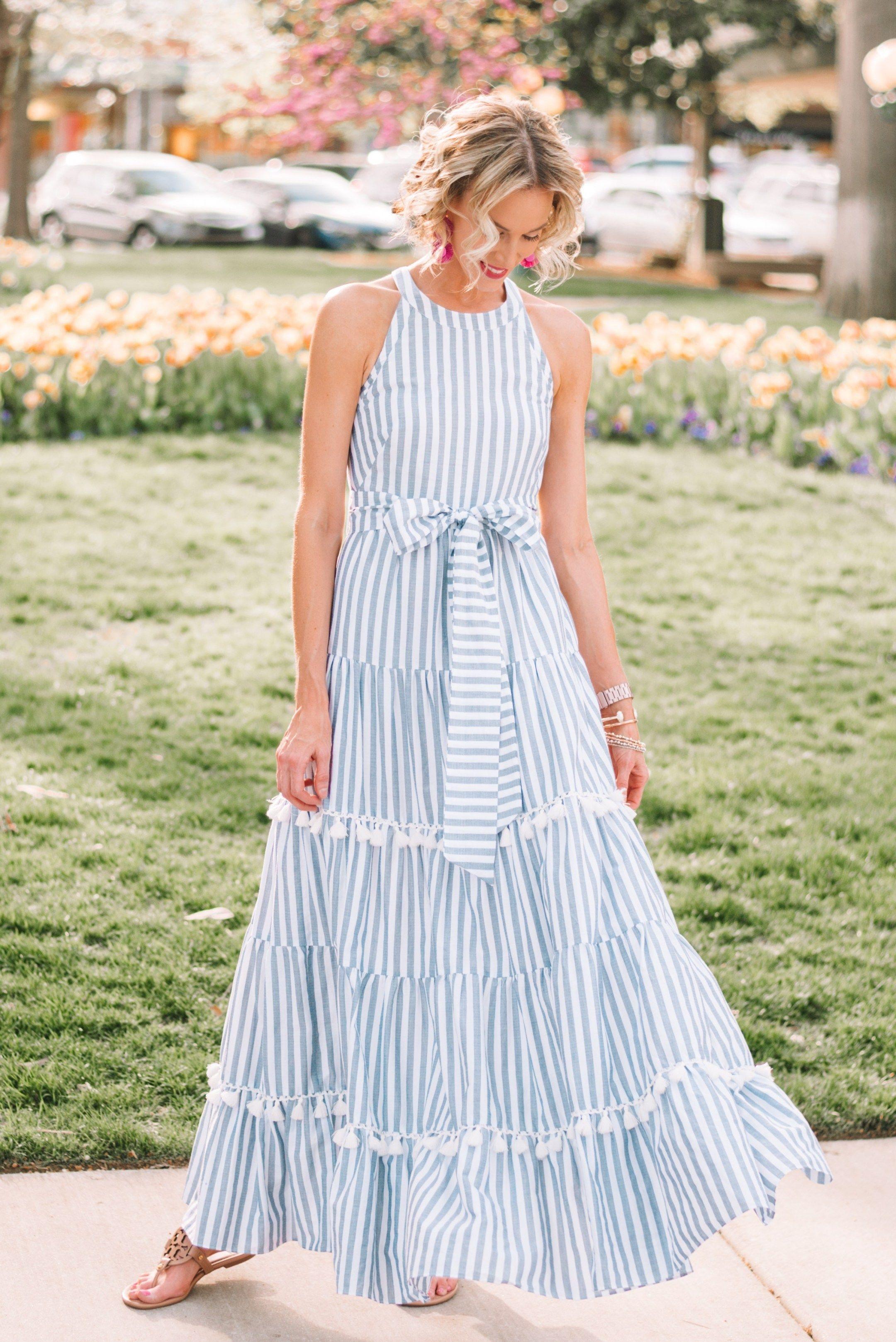 The Maxi Dress Of My Dreams Straight A Style Long Flowy Maxi Dresses Striped Maxi Dresses Tiered Maxi Dress [ 3235 x 2160 Pixel ]