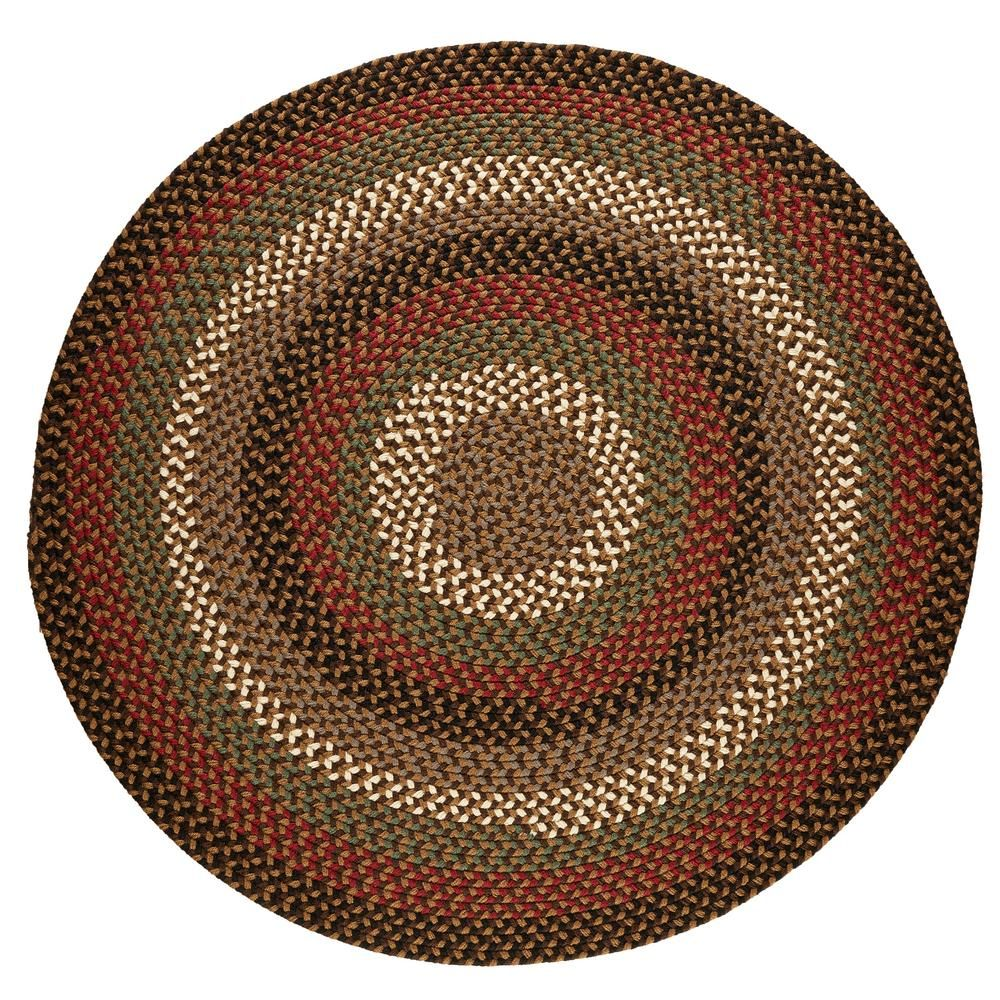Rhody Rug Country Medley Brown Fudge 8 Ft X 8 Ft Round Indoor