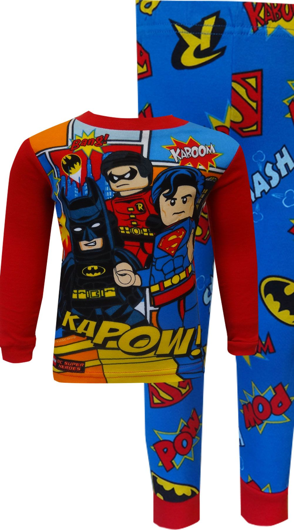 7b150fc116 WebUndies.com Lego DC Comics Superheroes Cotton Pajama Set