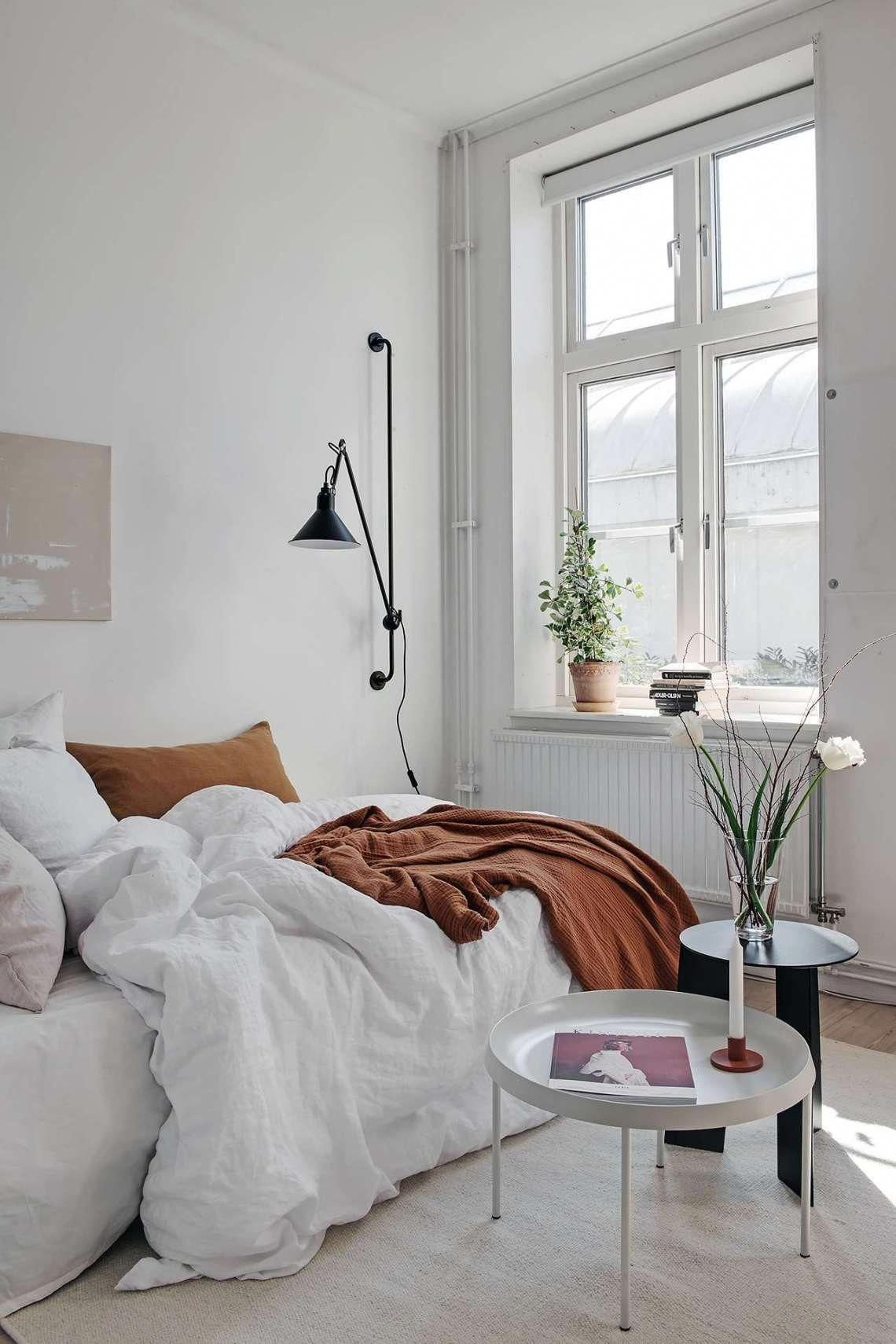 Small Yet Stylish Studio Home Coco Lapine Designcoco Lapine Design Minimalistbedroom In 2020 Bedroom Interior Interior Home Bedroom