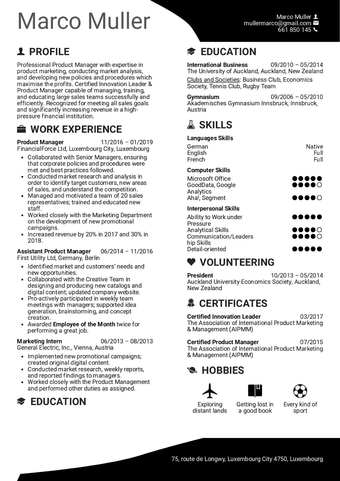 Resume Samples 2020 panosundaki Pin