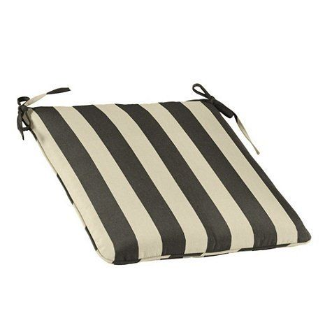 Outdoor Chair Cushion With Knife Edge Welts J Canopy Stripe Black