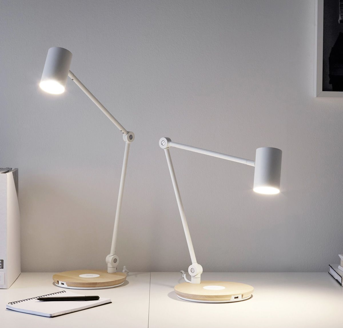 Cool Product Alert Furniture Accessories With Wireless Phone Charging Work Lamp Lamp Modern Lamp
