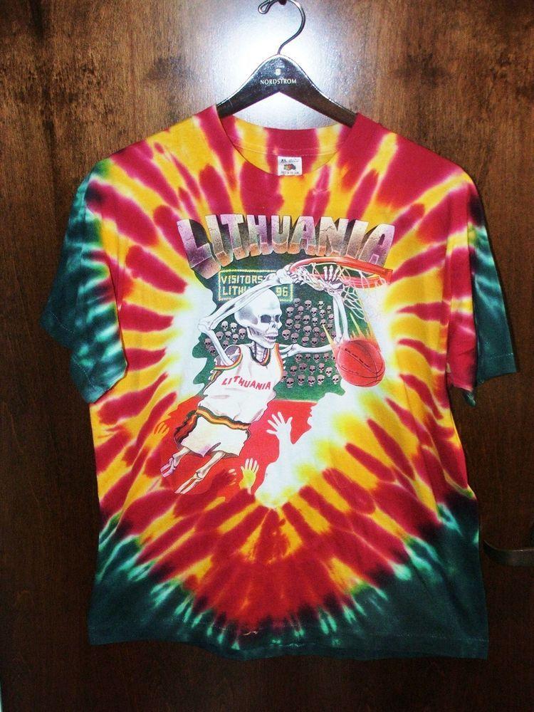 Rare 1992 Lithuanian Olympic Basketball Skullman Grateful Dead Xl