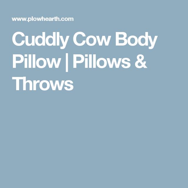 Cuddly Cow Body Pillow   Pillows