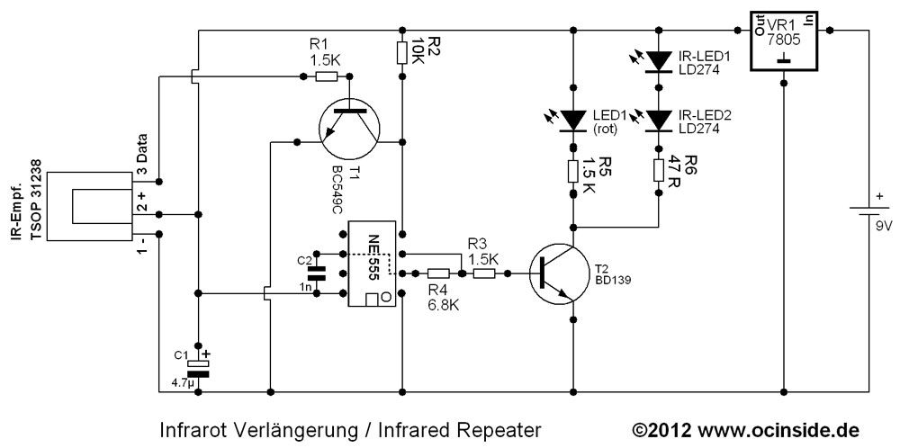 Der Schaltplan vom IR-Repeater Heimkino Racksystem | Diverse ...