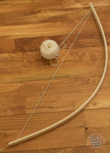 Tie string to other end of bow. Homemade Bow and Arrows ...