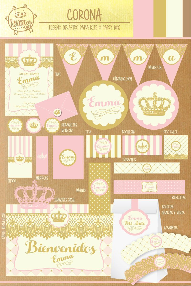 kit imprimible gratis princesas - Buscar con Google | cumple isa ...
