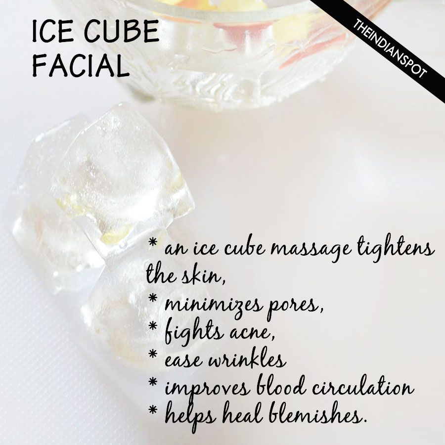 Ice Cube Facial Keep Acne And Wrinkles At Bay Grandma Taught