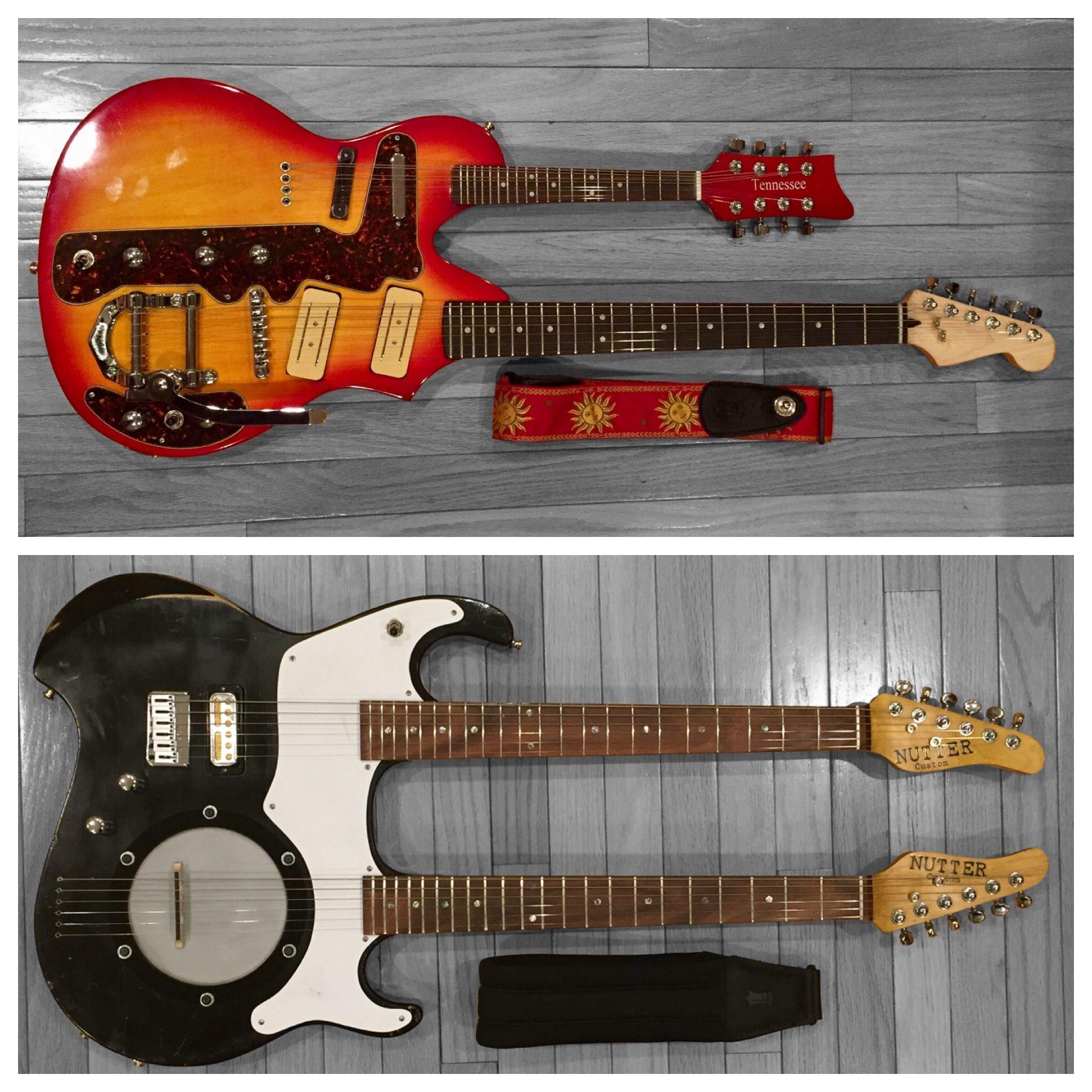 Crazy Guitar Combos A Rebuilt Tennessee Mando Guitar Nutter Custom Guitar Banjo Guitar Design Guitar Neck Custom Guitars