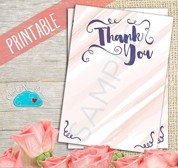 Bachelorette Party Thank You Note - Printable DIY, Bridal Shower - thank you note to friend