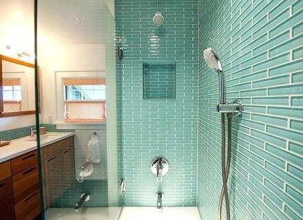 Glass Tile Bathroom Designs Of Well Interior Design Ideas in