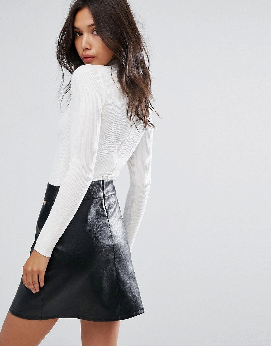 Lipsy Two In One Ring Zip Dress - Multi