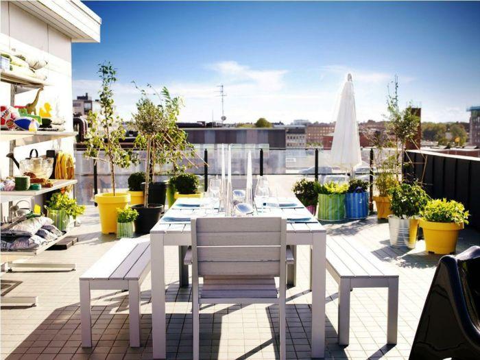 ikea gartenmöbel outdoor esstisch sitzbänke stühle weiß holz - gartenmobel weis metall