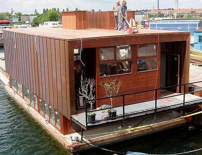 Flydende Bolig, Husbåd, Dragør Fort, Reinforced Concrete, House Boat Platform - www ...