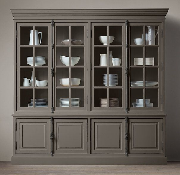 French Casement 4 Door Sideboard Hutch Restoration Hardware Dining Room