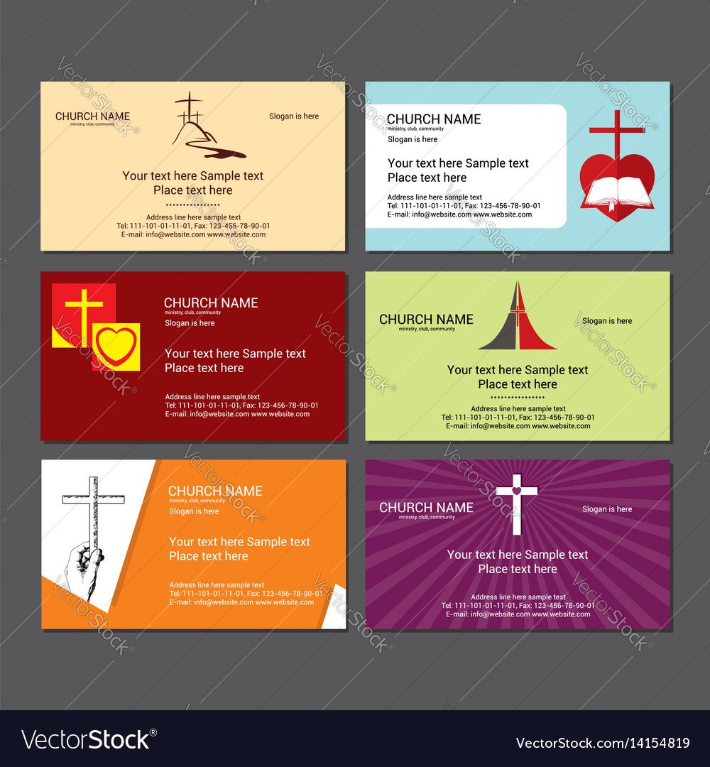 Set Christian Business Cards For The Church With Christian Business Cards Templates Fre Free Business Card Templates Business Card Template Card Templates Free