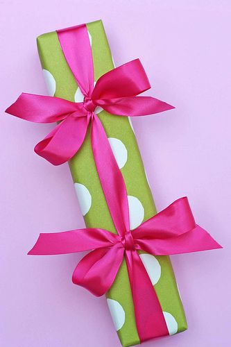 Cute twist on wrapping add 2 bows to your brightly wrapped presents cute twist on wrapping add 2 bows to your brightly wrapped presents giftwrapped negle Images