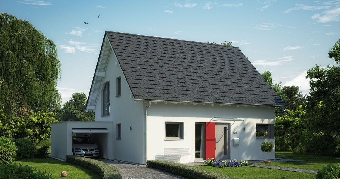 massivhaus kern haus familienhaus luna plus eingangsseite grundriss pinterest kern haus. Black Bedroom Furniture Sets. Home Design Ideas
