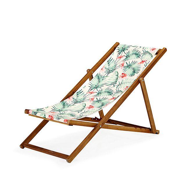 Tropicale Chilienne Chaise Longue De Jardin Motifs Tropicaux Chaise Longue Jardin Mobilier De Salon Meuble Deco