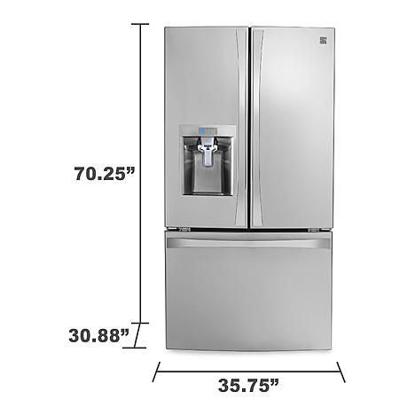 Kenmore Elite 237 Cuft Counter Depth French Door Bottom Freezer