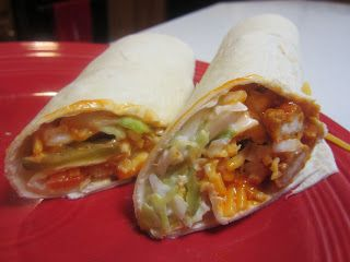 Buffalo Chicken Wrap Recipe with shredded cheddar cheese & ranch (copycat recipe for Cheddars' buffalo wraps).