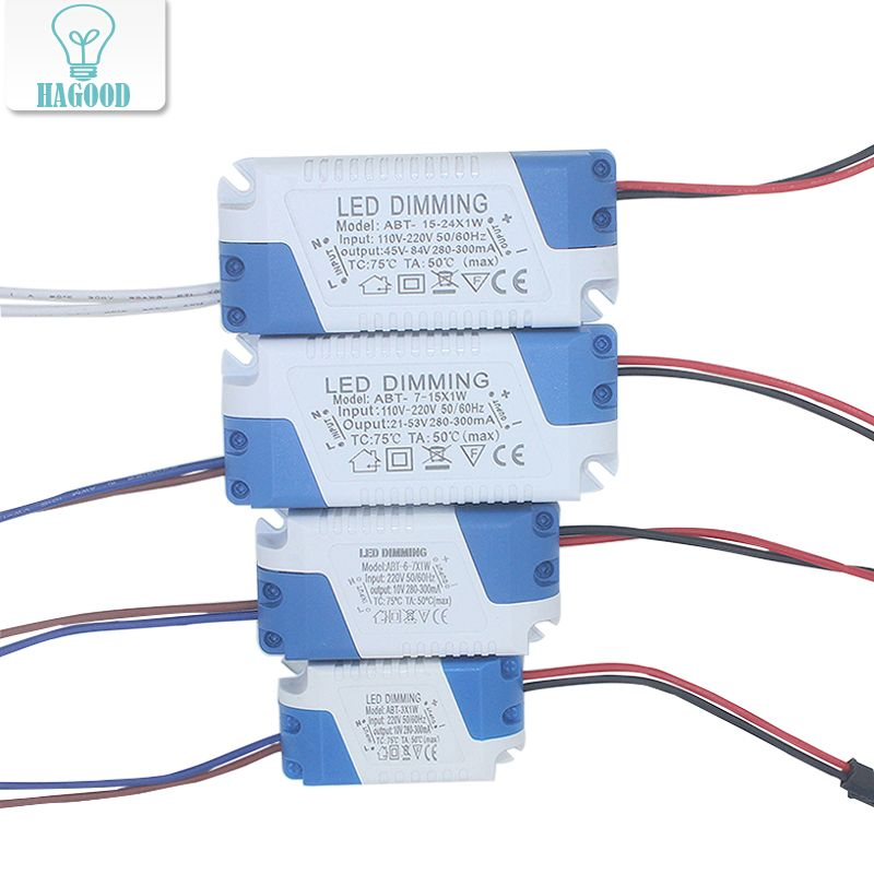 3 24w Dimmable Safe Plastic Shell Led Driver Ac90 265v Dc3 85v Light Transformer 300ma Power Supply Adapter For Led Lamps Affiliate