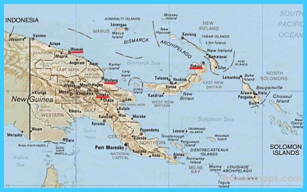 nice Map of Papua New Guinea Travelsmaps Pinterest Nice map