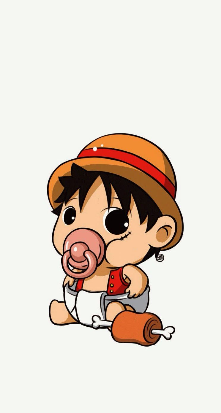 76d9052e7b77 Baby Luffy - One Piece iPhone wallpaper @mobile9 #anime #manga More