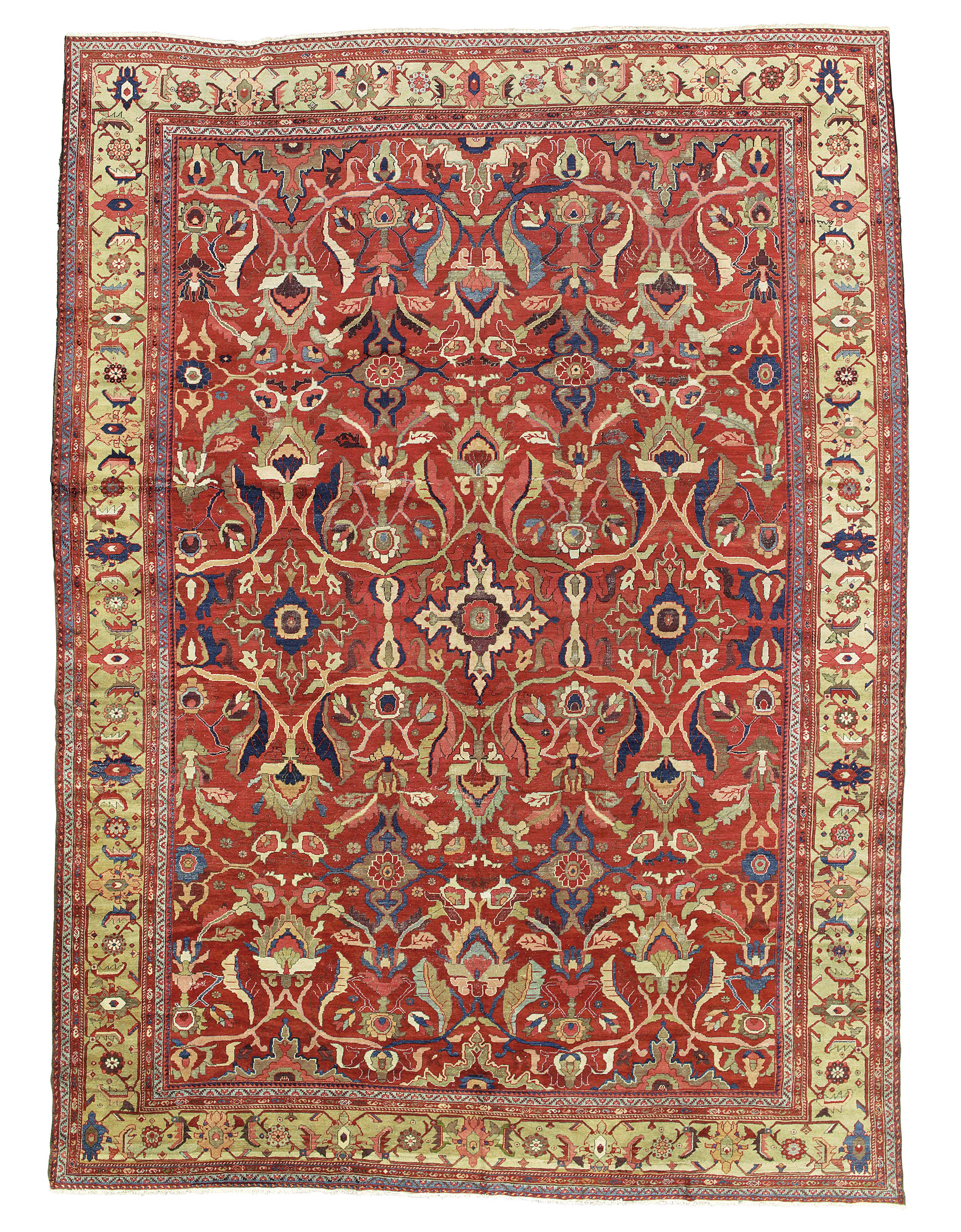 A Sultanabad Carpet West Persia Circa 1890 17ft X 12ft 5in 517cm X 378cm Christie S Persia Oriental Rug Rugs