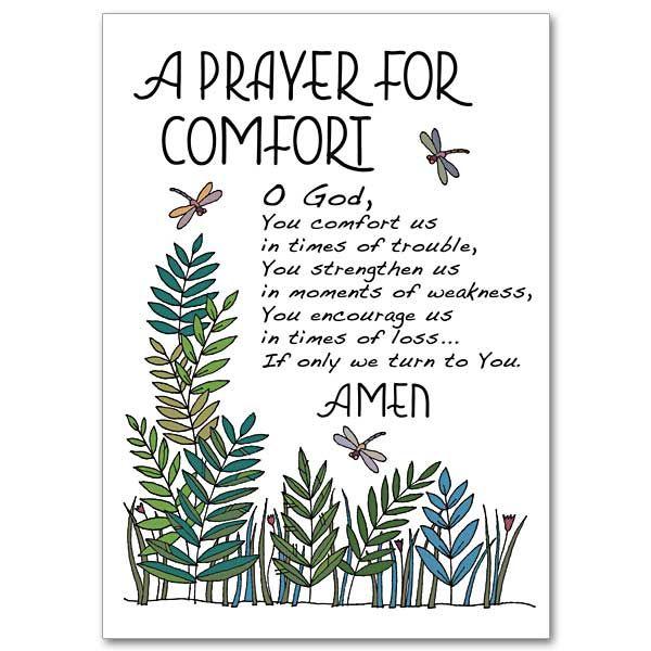 Beautiful prayer of comfort | Prayer for comfort, Sympathy card sayings, Prayers