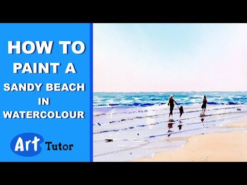 How to paint a Sandy Beach in Watercolour - YouTube