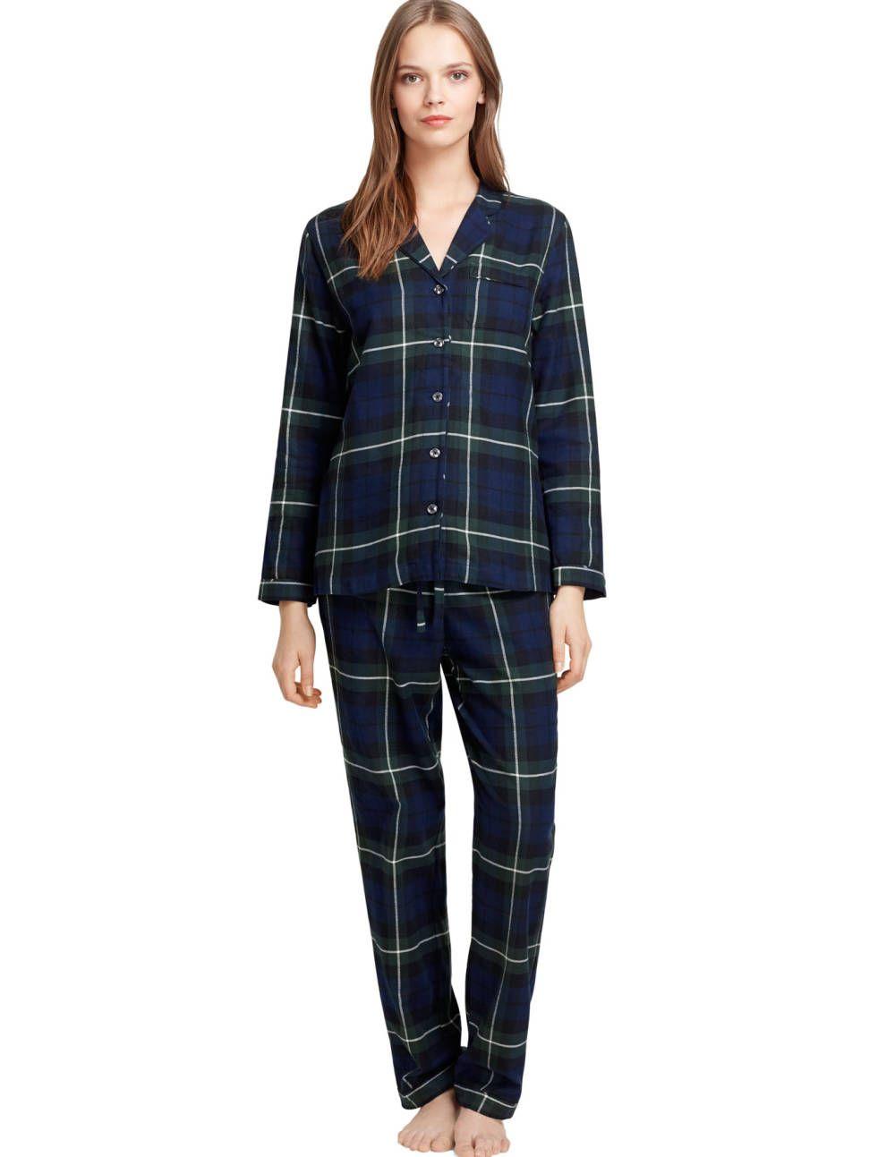 8ddc49c0a9 Brooks Brothers black watch plaid flannel pajamas.
