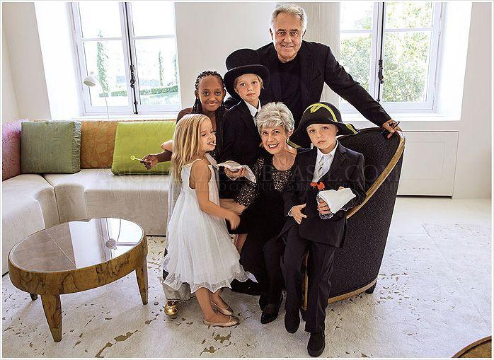 Bill Jane Pitt With 4 Of Their Grandkids Vivienne Zahara