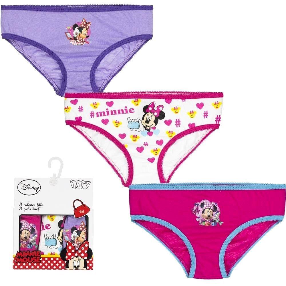 8974c59afc 3er Set Disney Minnie Mouse Mädchen Slips Unterhosen Slüpfer Pantys  Unterwäsche