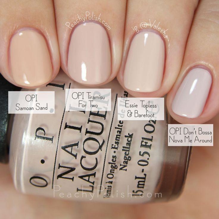 OPI Tiramisu For Two Comparison nail polish colors | Fall 2015 ...