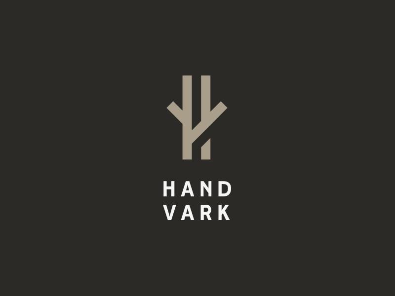 Handvark logo   Wood logo, Hotel logo, Furniture logo