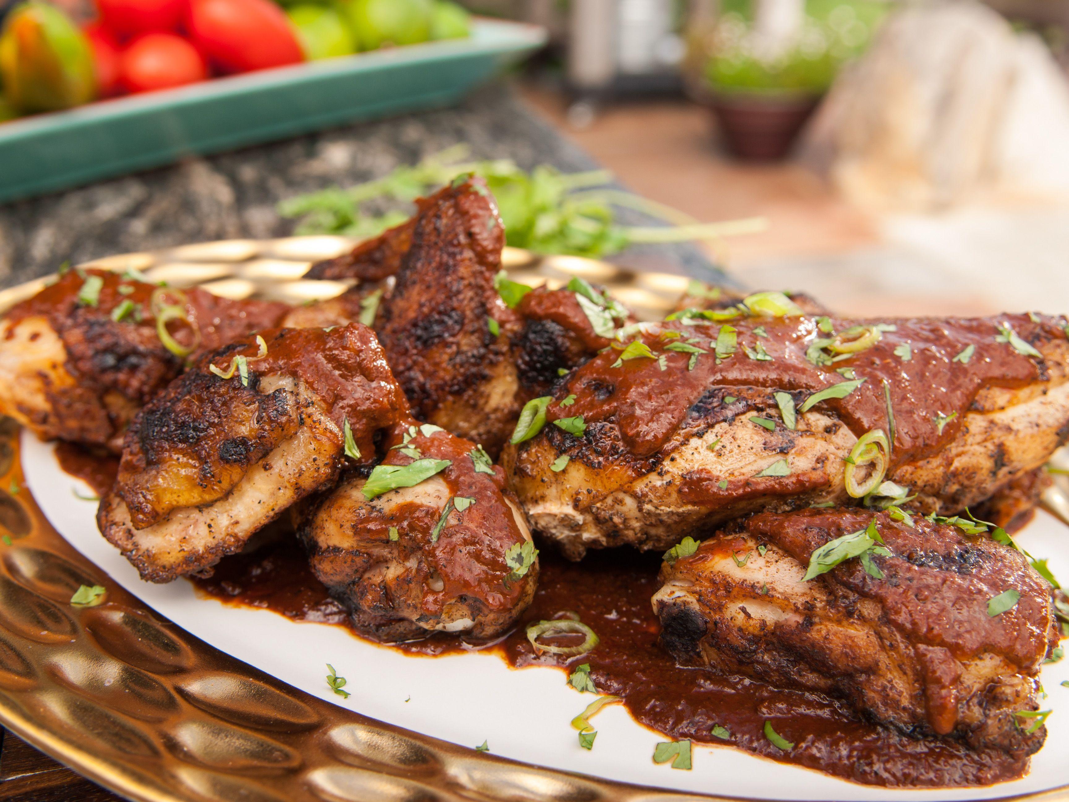 grilled chicken mole negro recipe more mole negro guy fieri