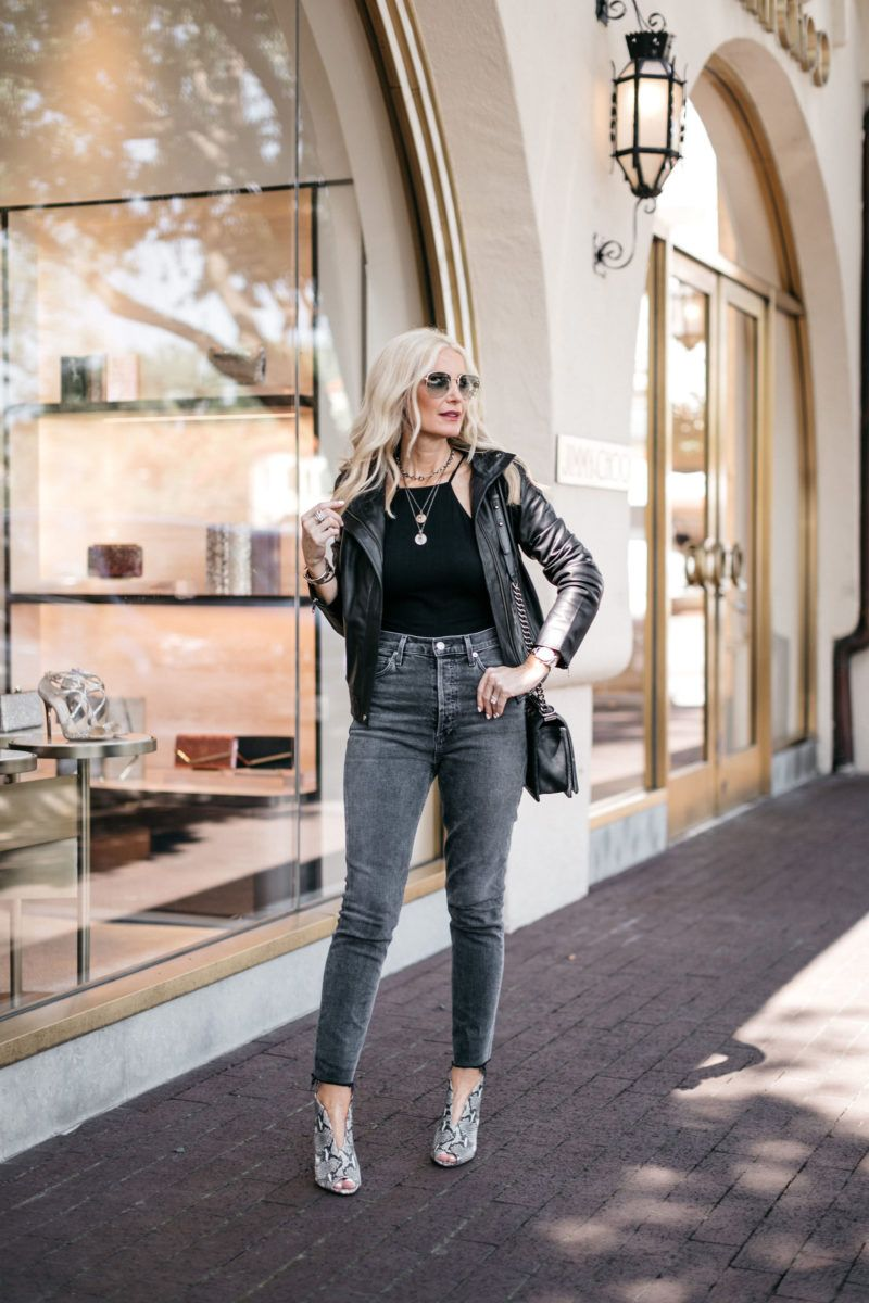 How To Wear A Leather Jacket Over 40 Leather Jacket Style Real