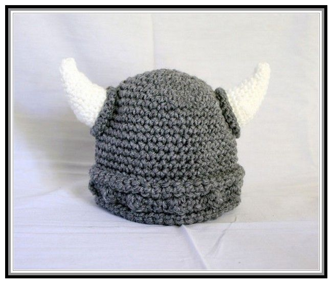 Viking Knitting Patterns : Baby Viking Hat Crochet Pattern Free Crochet/knit--yarn addict! Pinterest...