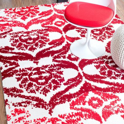 nuLOOM Vanesa Red Area Rug Rug Size: 8' x 10'