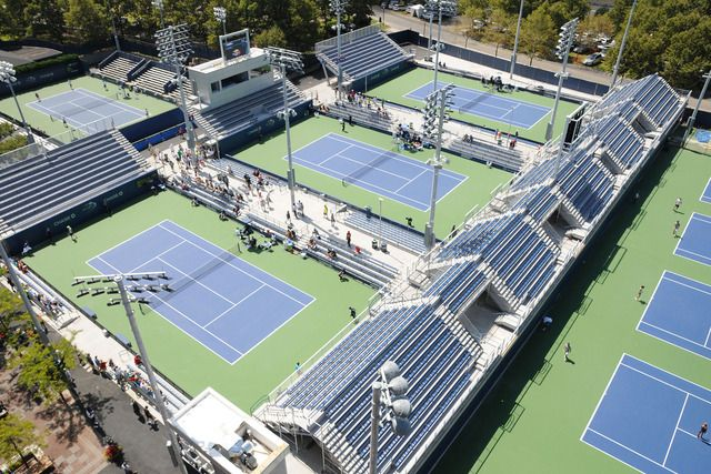 New Courts Practice Pavilion Kick Off Us Open Transformation Wimbledon Centre Court Pavilion Tennis Championships