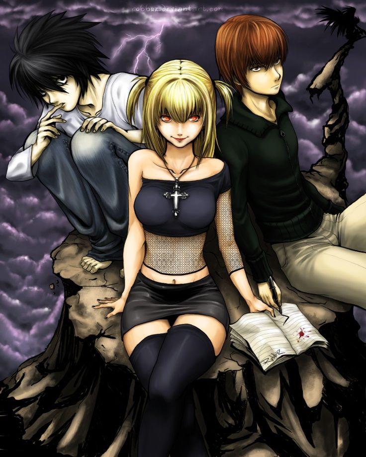 Ideia por Scimintro em Deathnote Anime, Death note, Arte
