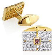 Mens 14K Gold Diamond Amethyst Cufflinks 2.5ct . . . . . der Blog für den Gentleman - www.thegentlemanclub.de/blog