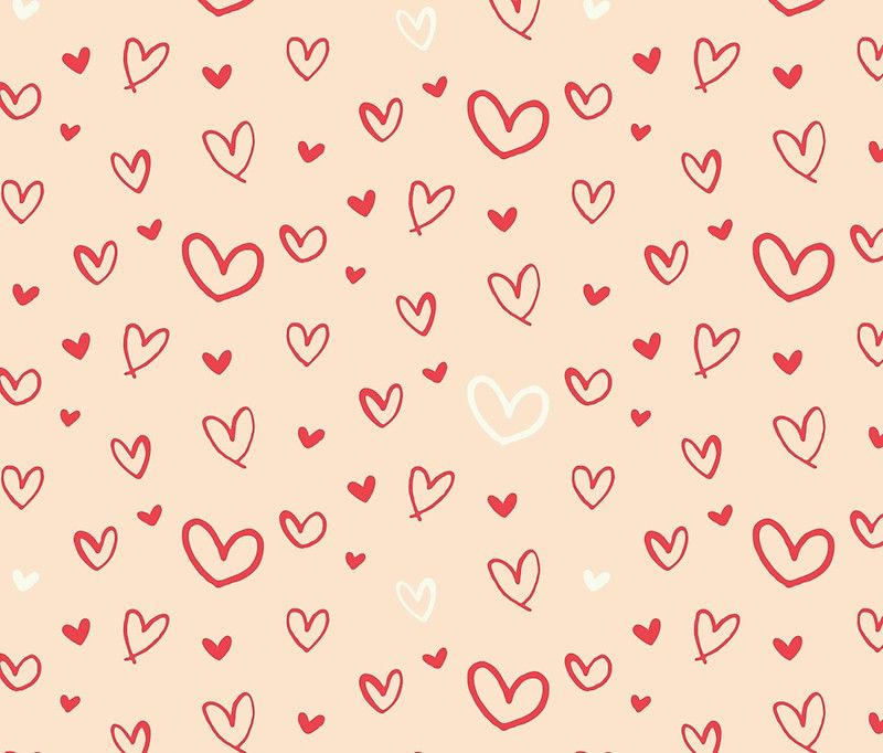 Valentines Day Hearts and Love Pattern