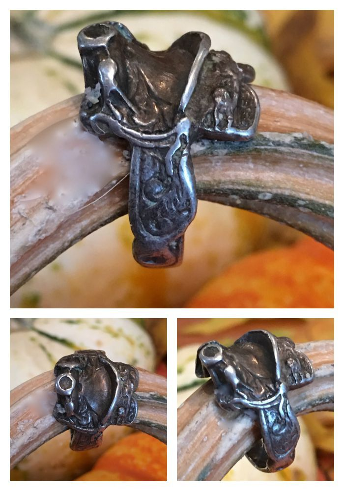 Sterling Silver Western Saddle Ring