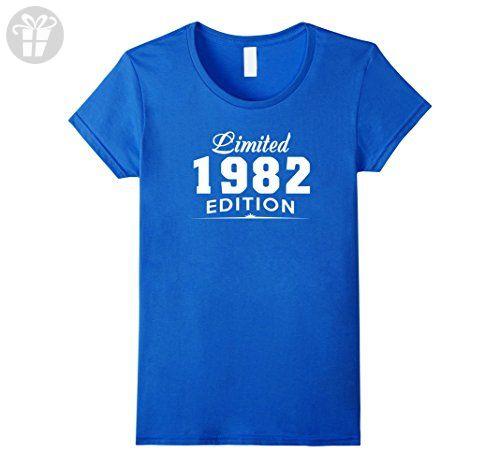 Women's Limited 1982 Edition T-Shirt - 35th Birthday Gift Ideas Large Royal Blue - Birthday shirts (*Amazon Partner-Link)